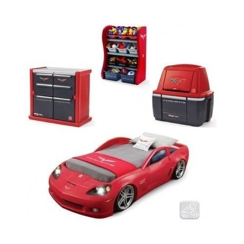 kids car bed boys toddler cars disney twin bedroom furniture storage