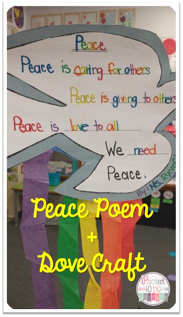peace writing activity for 2nd