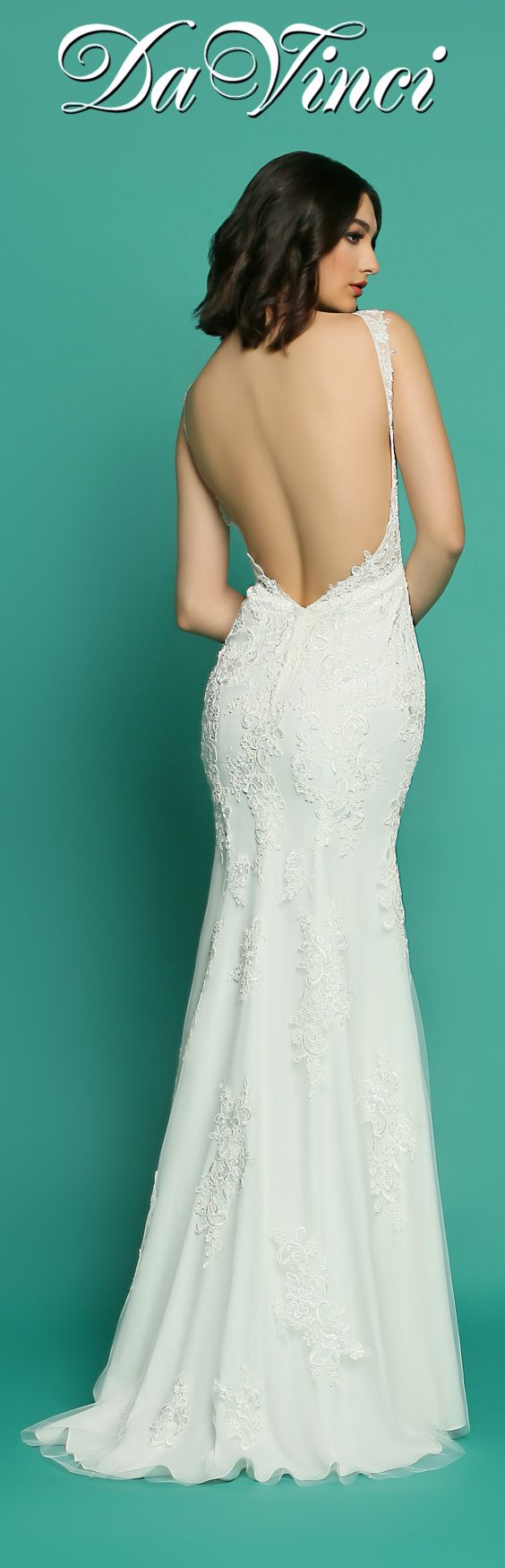 287 best Gorgeous Backs images on Pinterest | Short wedding gowns ...