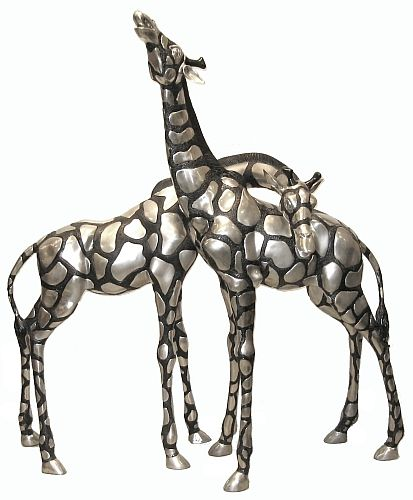 Giraffe pair - silver Bronze Collection BR23091