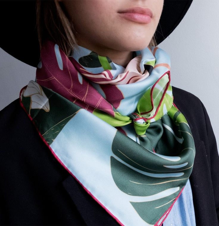 Brighten up any day with this paradise inspired scarf.