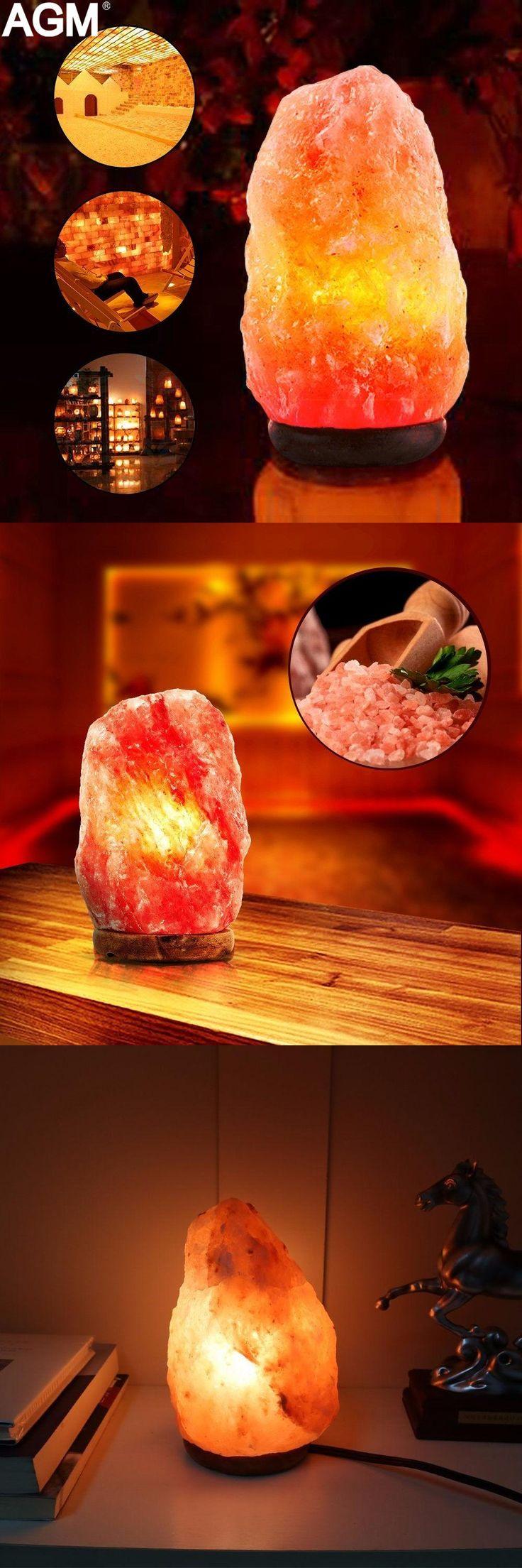 [Visit to Buy] US EU Plug USB 7 Colors Natural Himalayan Salt Lamp Air Purifier Crystal Rock Healthy Table Night Light Wood Base Desk Lampe #Advertisement