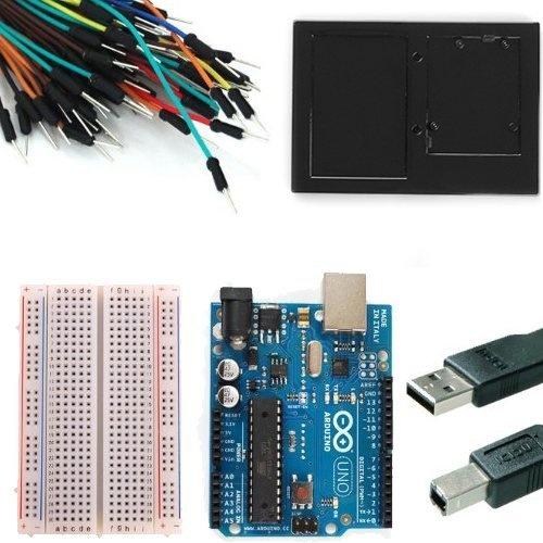 Arduino Uno Rev 3 Starter Kit -- 3' USB Cable --Solderless Breadboard -- 65 Jumper Wires -- Breadboard Holder by Newsite, http://www.amazon.com/dp/B0051QHPJM/ref=cm_sw_r_pi_dp_fk1Ipb06Q43AX