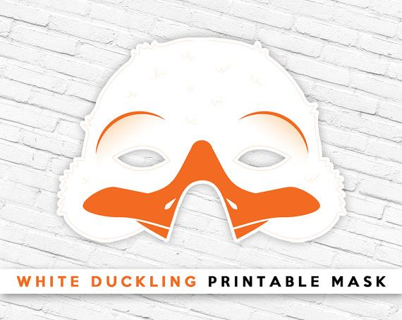 White Duckling Printable Mask White Duck Mask by theRasilisk