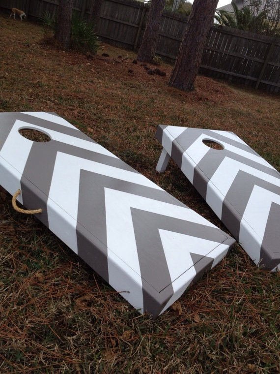 Cornhole Design Ideas philadelphia eagles corn hole board logos philadelphia phillies and philadelphia eagles cornhole boards Ideas On Painting My Set Chevron Striped Corn Hole Game