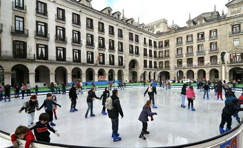 Pista de hielo en la plaza porticada de Santander, del 5 de diciembre al 6 de enero, 2012   Cantabria   Spain