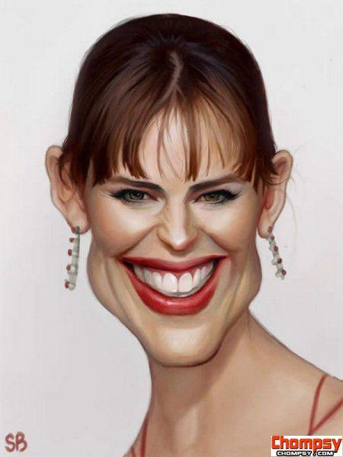 caricatures of the celebrities (Jenifer Gardner)