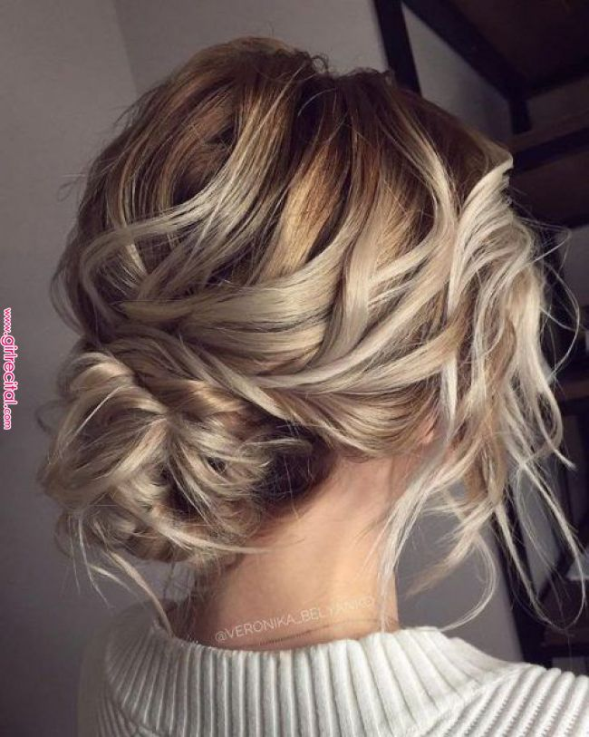 25 Awesome Low Bun Wedding Hairstyles Bridal Hair Inspiration Long Hair Styles Messy Wedding H Hair Styles Updos For Medium Length Hair Messy Wedding Hair