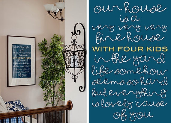 Our House: Four Kids, Wall Art, Three Kids, So Cute, Houses White, Cute Ideas, Wall Quotes, Design Schools, Houses Blue