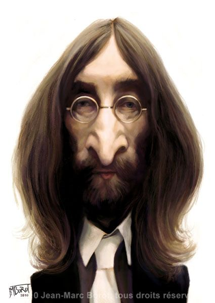 John Lennon (by jmbrot) One of the BEST cartoonists ever.