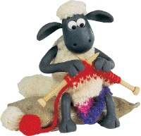 Shaun the Sheep Knitting.  Shaun the Sheep CRACKS me up every time I watch.  Good, wholesome, fun, entertaining TV :-)