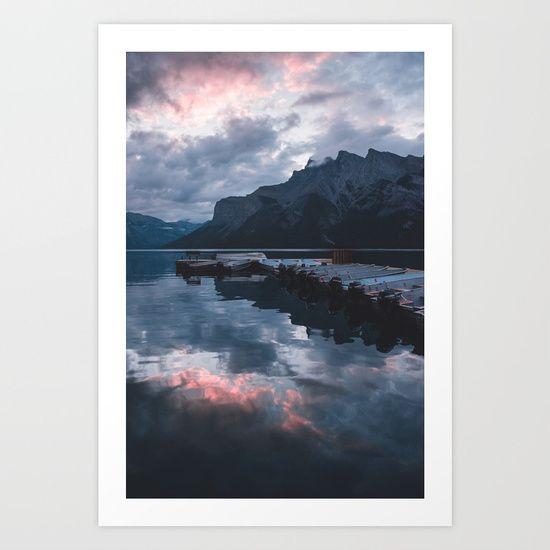 Beautiful Lake Minnewanka in the early morning