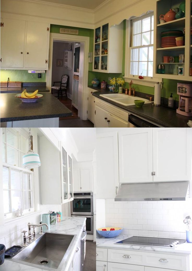 A Kitchen Renovation With The Original Footprint Maintained New Formica Calacatta 180fx Countertops Kitchen Makeoverskitchen Renovationsold Country