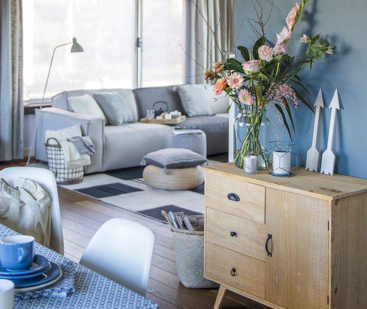 Zachtbruine en witte tinten, rieten mandjes en bamboe hebbedingen: de nieuwe wooncollectie van Libelle samen met Blokker straalt bohemian chic uit.