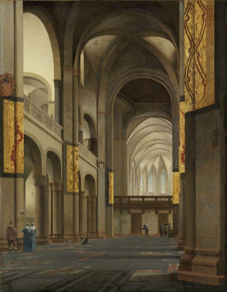 Het middenschip en koor van de Mariakerk in Utrecht, Pieter Jansz. Saenredam, 1641