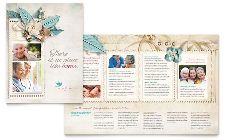 Hospice  Home Care Brochure Design  Oh The Layouts