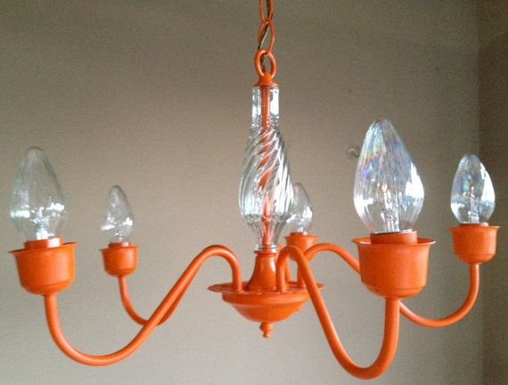 Orange Chandelier By Dandyshandy On Etsy 78 00