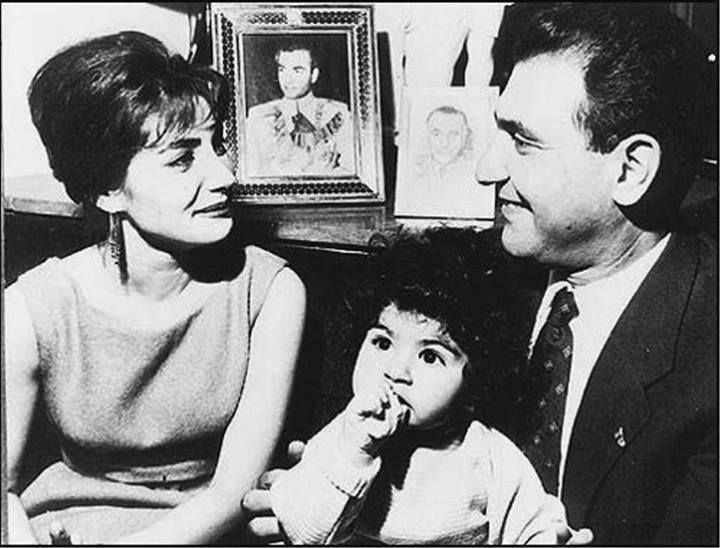princess Shahnaz Pahlavi of Iran, Ardeshir Zahedi and Mahnaz Zahedi