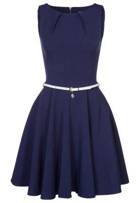 Cocktailkleid / festliches Kleid - navy/cream