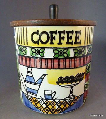 Jie Gantofta Sweden COFFEE Storage Jar Anita Nylund Mid-Mod Design