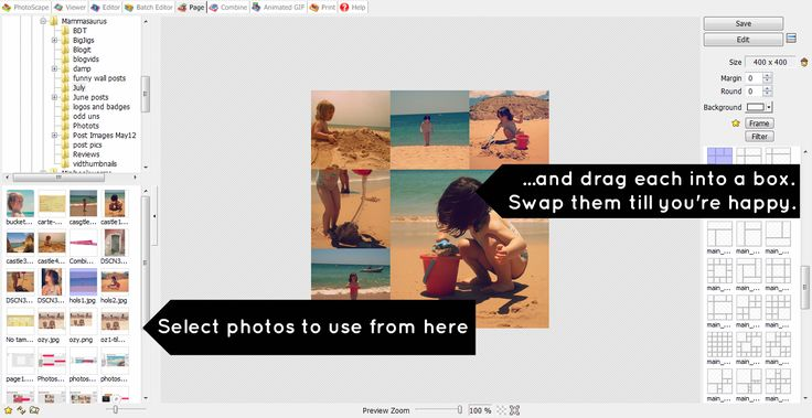 PhotoScape tutorial - using Pages (2) - free photo editing software to download, this looks great.