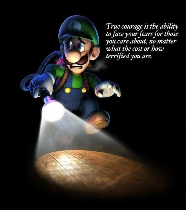 Such a thought-provoking quote from a rather humorous game.