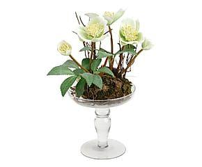Composizione artificiale di Rose con vaso - h 27 cm