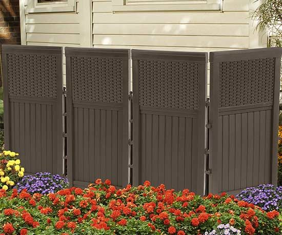 If you need to hide any unpleasant pieces in your yard, this screen is the perfect solution.