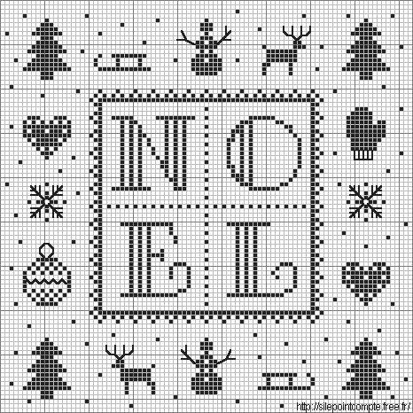 Les Marottes de Nathalie - Freebie - #Noel #cross-stitch #chart