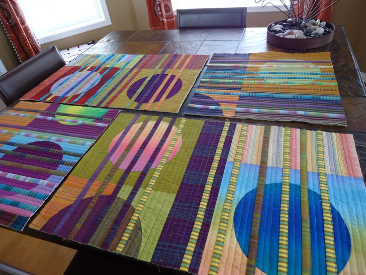 strips and circles--the quilting edge.