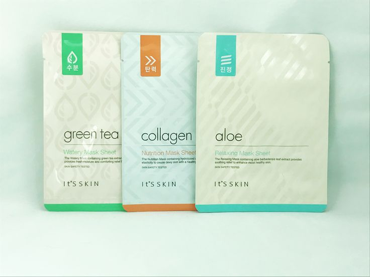 It's Skin Mask Collection - Aloe, Collagen and Green Tea 🍵