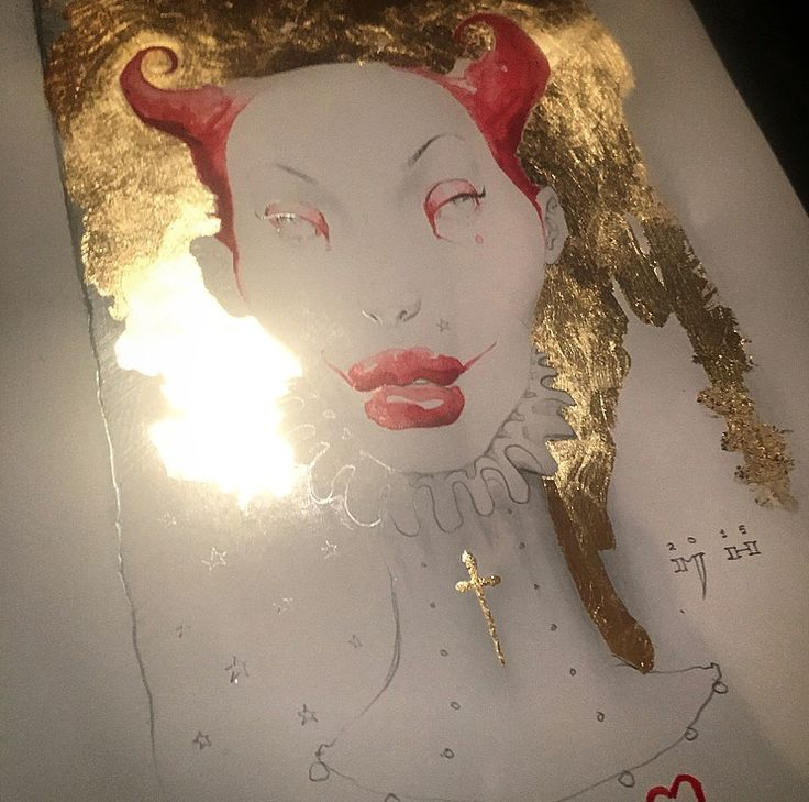 MICHAEL HUSSAR: a Decade + with Custom Cover + interior drawing