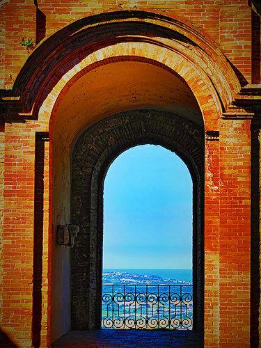 Italy, Marche, Recanati - balcony#2 by Gianni Del Bufalo