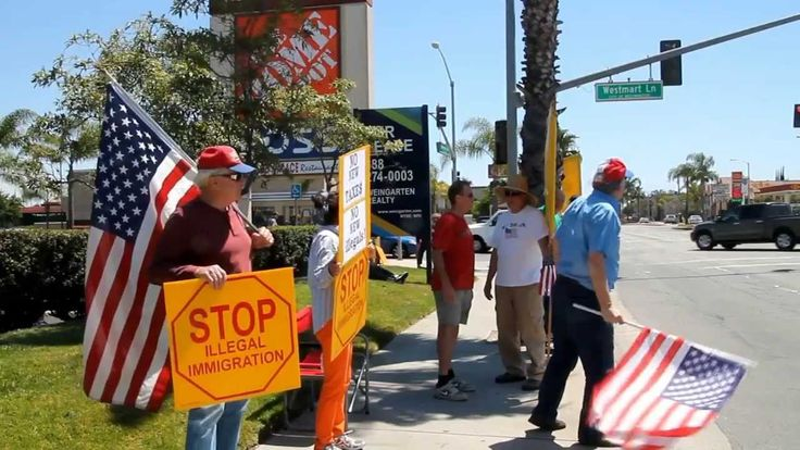 Protest Against Illegal Immigration in Westminster, California