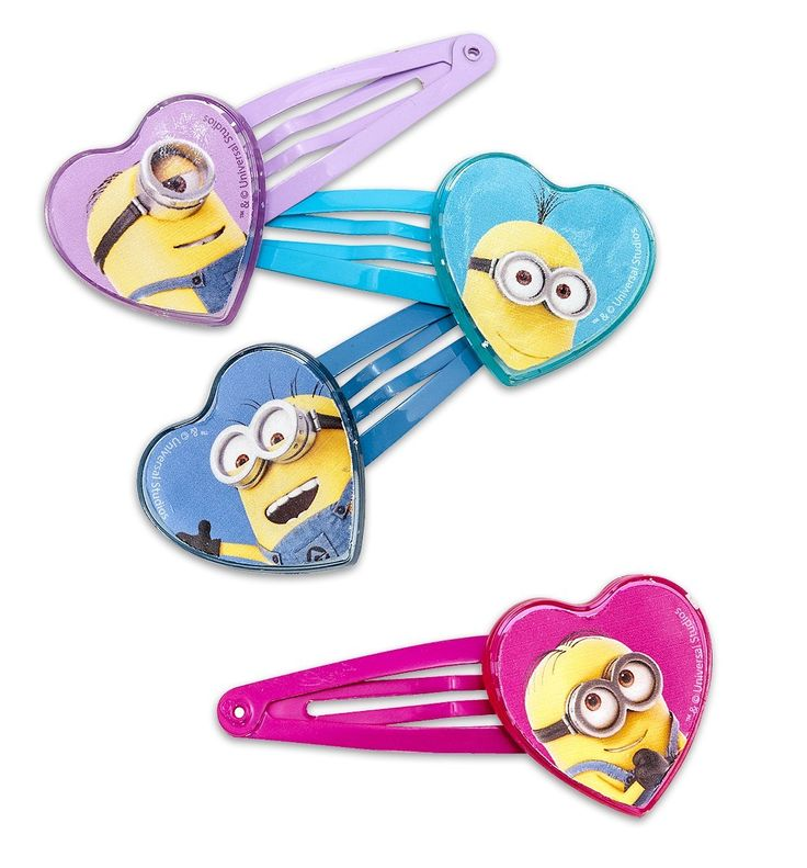 Despicable Me Hair Clips Minions Heart ** You can get more details by clicking on the image.