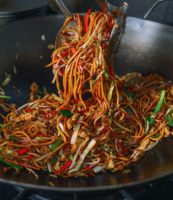 Don't you agree that looks SO GOOD?! Trust us when we tell you it's the BEST Chicken Lo Mein you will ever have, and thanks to a fun and bustling family blog The Woks Of Life that guarantees Grade A authentic Chinese cooking – it doesn't get any better! I'm so giddy I found this recipe! Authentic and Delicious!