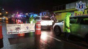 Operativo alcoholímetro en Oaxaca de Juárez