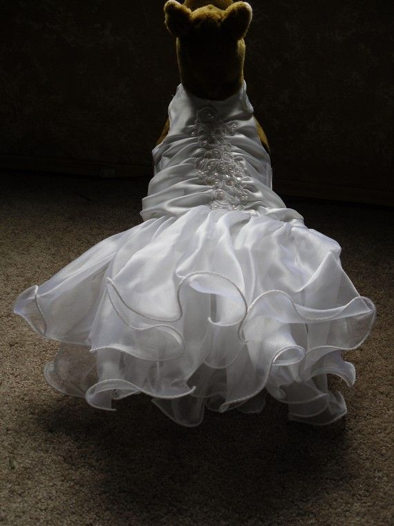 dog wedding dress tutu tulle by Intrigues on Etsy, $60.00
