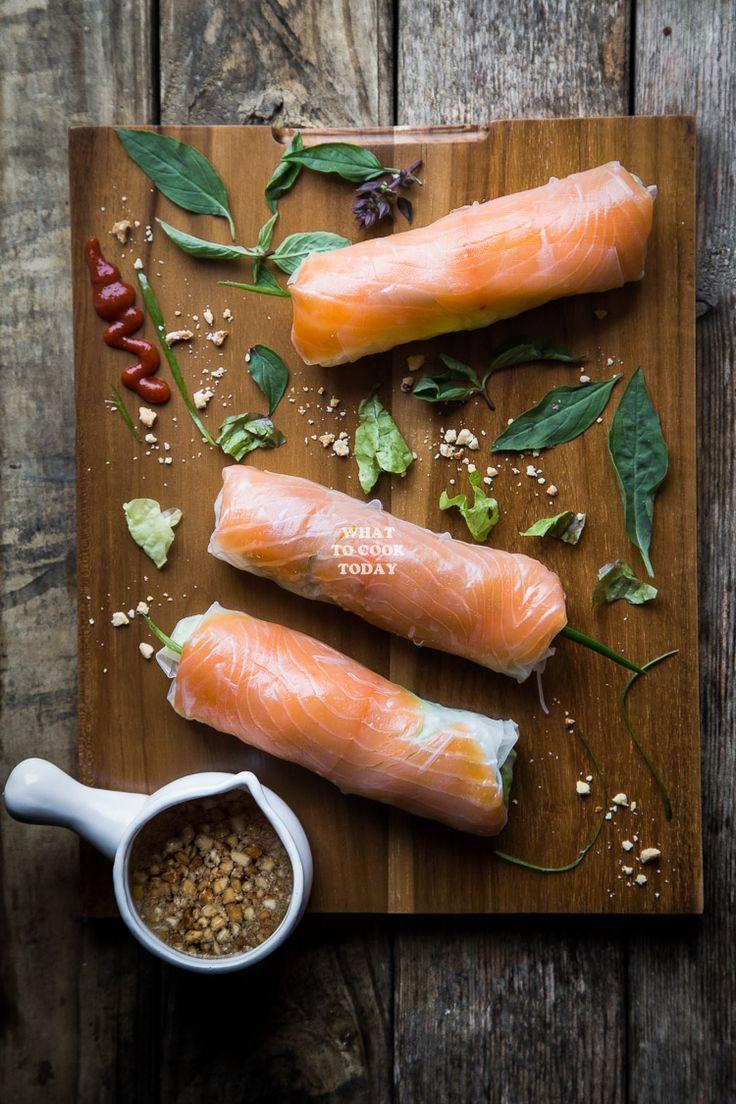 How To Make Smoked Salmon Fresh Spring Rolls Delicious Easy Healthy Smoked  Salmon Fresh Spring
