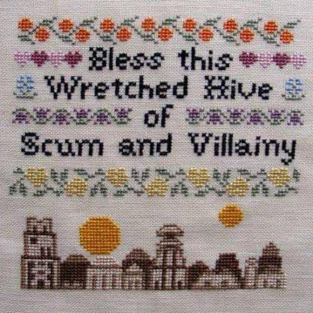 Hive of Scum and Villainy cross stitch