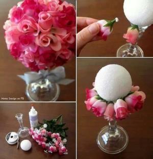 Tutorial para hacer un centro de flores by Dianney