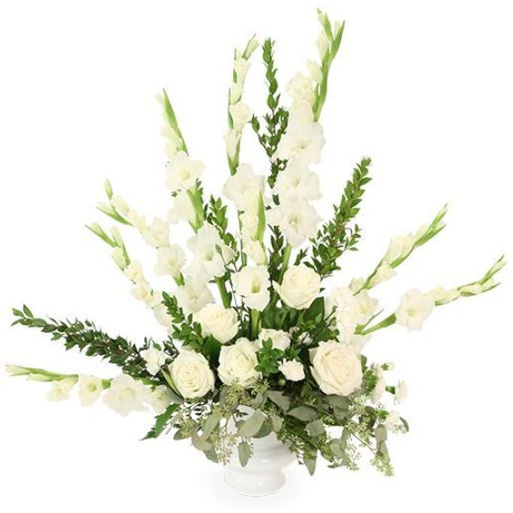 Dignity In White Is Just One Of The Many Funeral Fl Arrangements Available On Frazer Consultants Tribute An Online Flower All