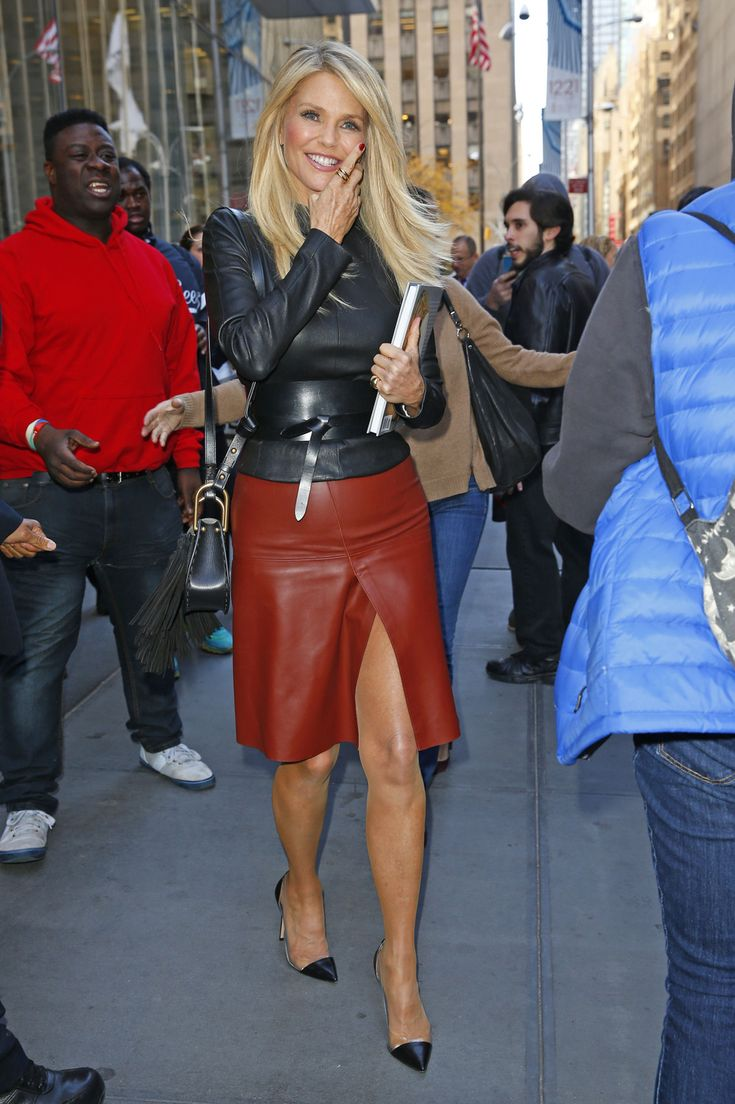 Christie Brinkley out in New York City
