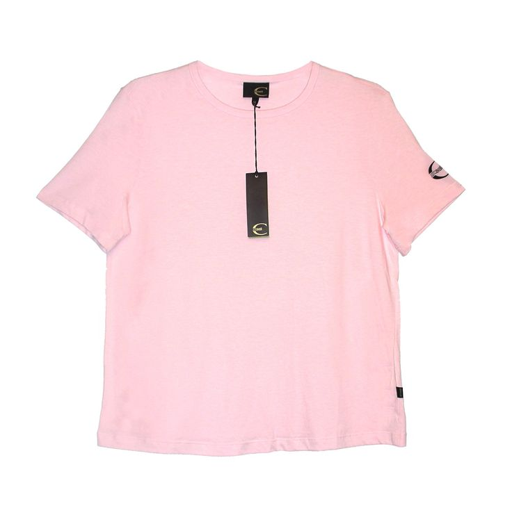 Just Cavalli Pink Women's T-shirt (X-Large). Brand: Just Cavalli. Color: Pink. Material: 100% Cotton. Made in Italy.