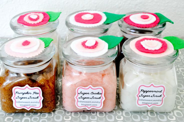 24 recipes for homemade hand and foot scrubs Yay for personalized Christmas gifts! :)