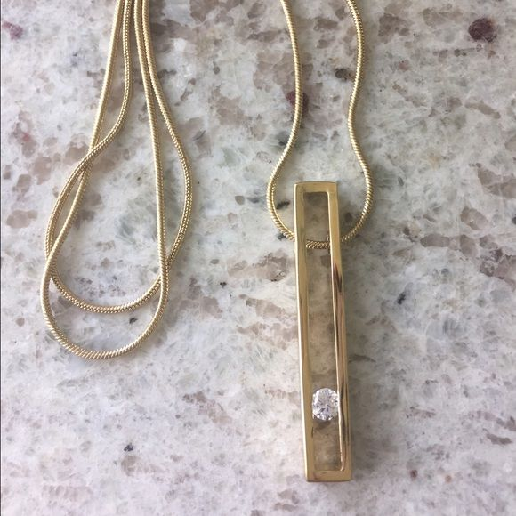 NEW in box, Stitch Fix Bancroft Necklace! Brand NEW with tags, in box! Stitch Fix Bancroft Gold Deanna Crystal Pendant Necklace! Gorgeous pendant necklace sure to flatter any outfit!    FIRM ON PRICE  Stitch Fix Jewelry Necklaces