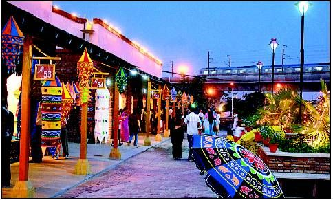 Dilli Haat is an open air food plaza and market place that offer a variety of handicrafts from various states across the country