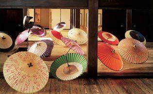 Japanese umbrella hand crafted