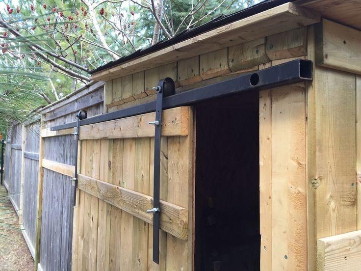 Best 25 barn door track system ideas on pinterest - Exterior sliding barn door hardware lowes ...