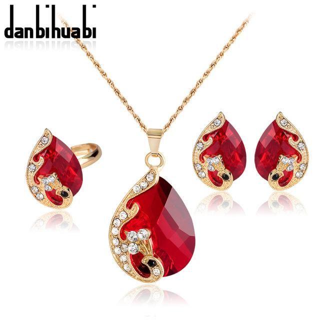 danbihuabi Peacock jewelry fashion jewellery sets luxurious rhinestone wedding j…